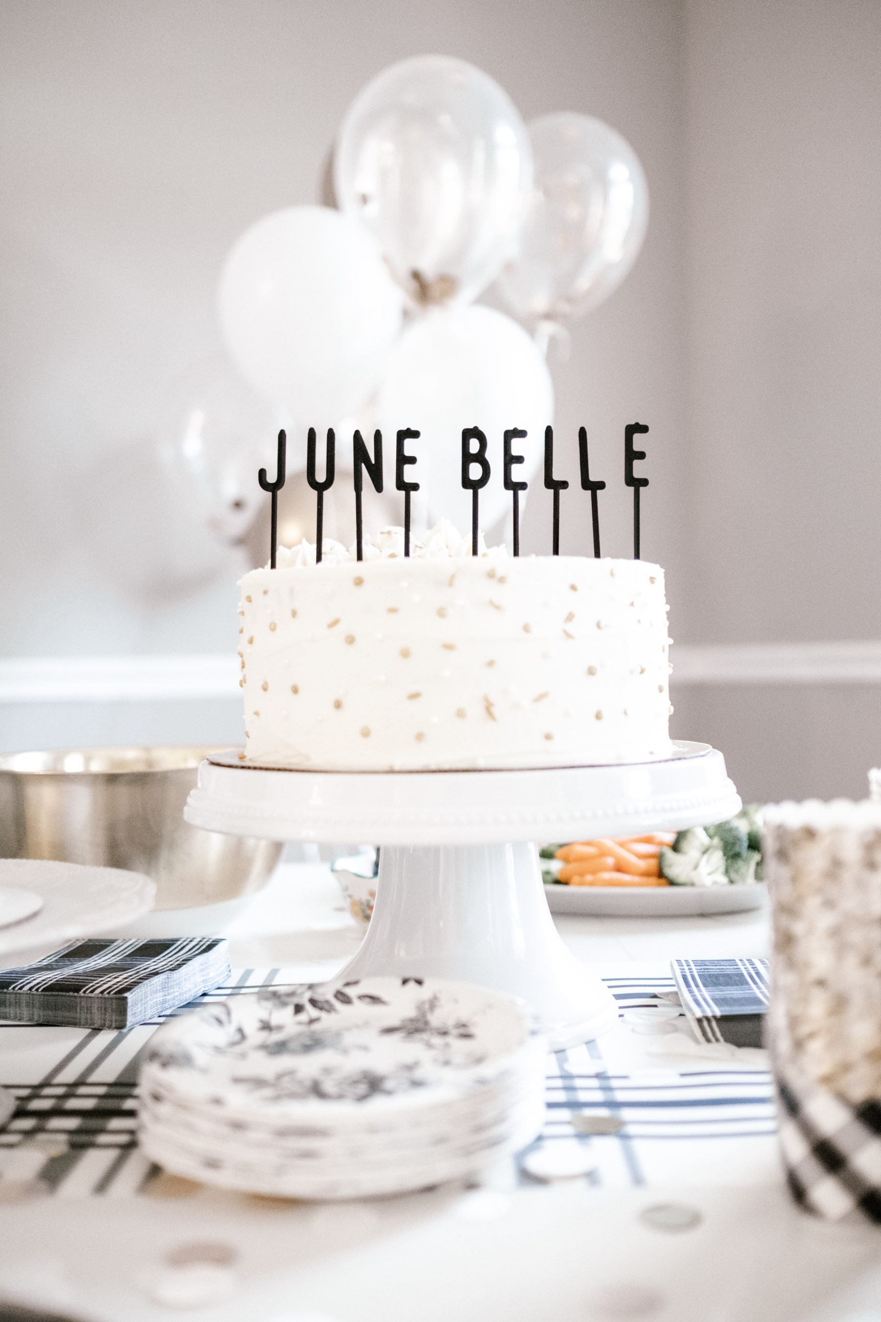 Birthday Cake: June Belle's First Birthday Party featured on Nashville Baby Guide