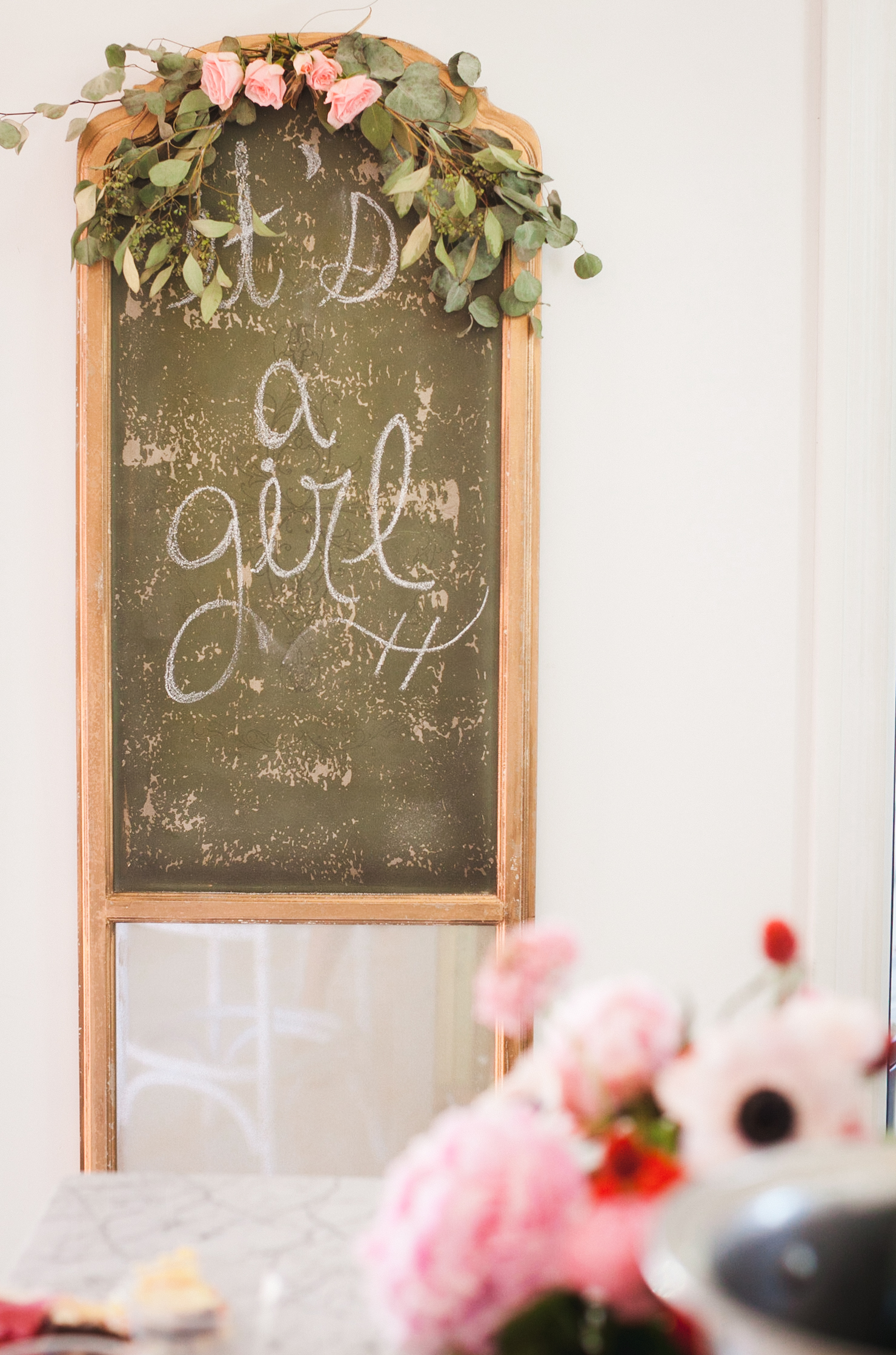 It's a Girl Baby Shower Sign captured by Melissa Haithcock