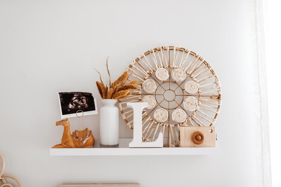 Modern Boho Nursery Design featured on Nashville Baby Guide
