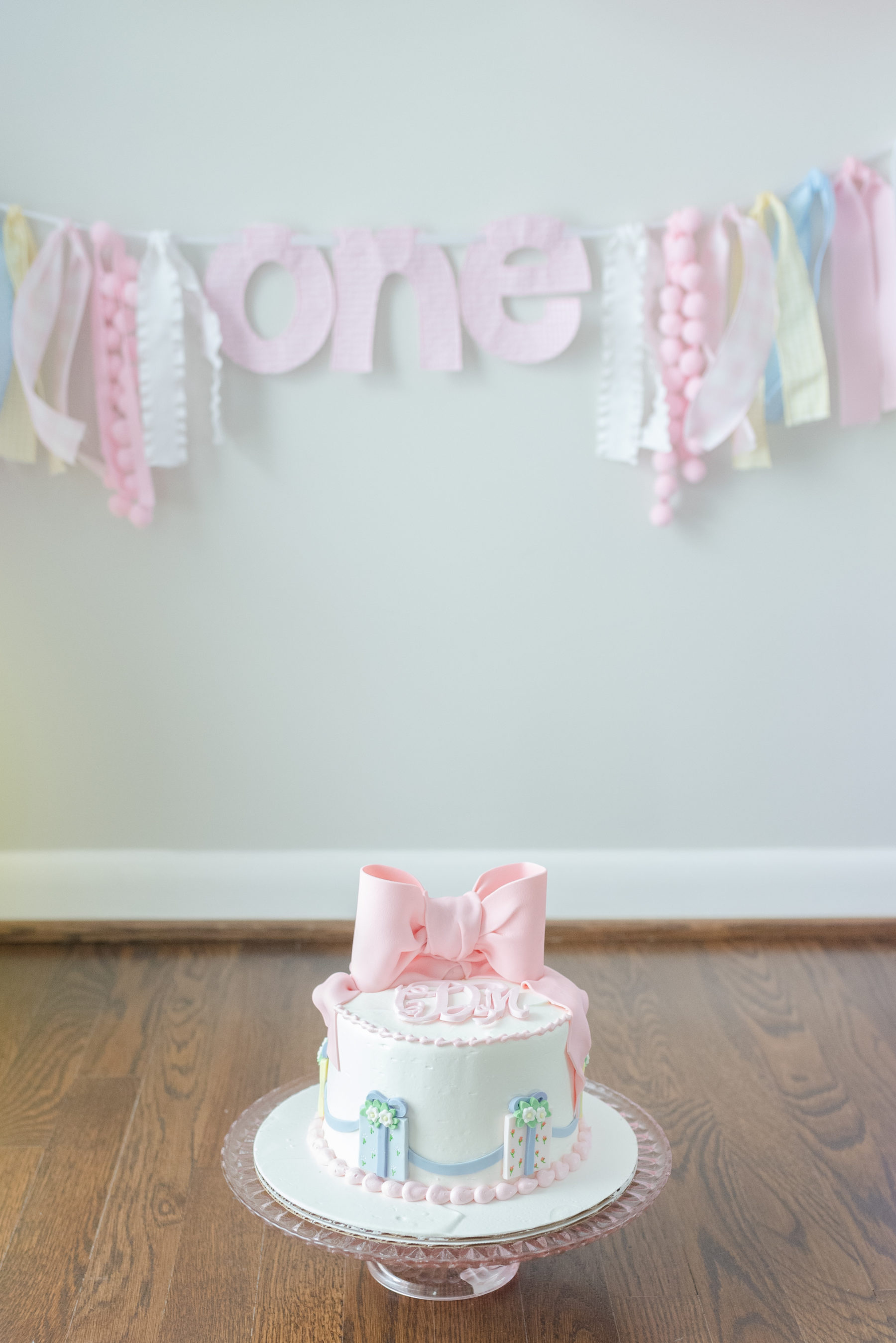 Pastel Wedding Cake Design: Gorgeous Pastel 1st Birthday Party by Dolly Delong featured on Nashville Baby Guide