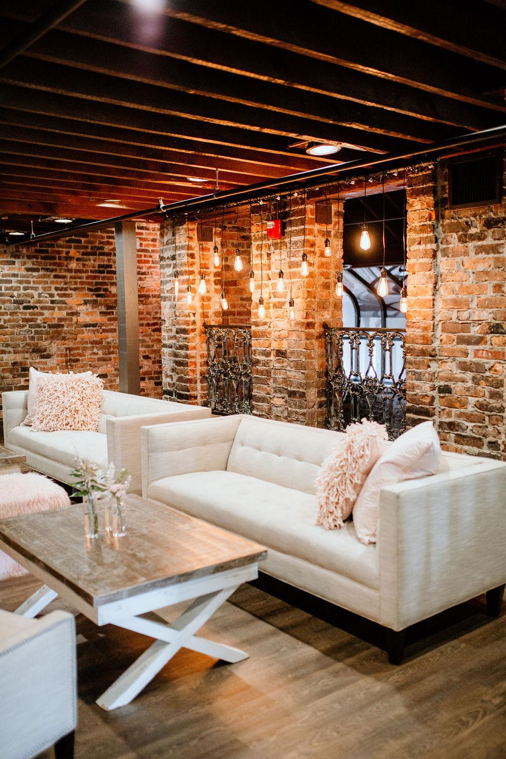 Modern lounge decor: Modern Pink Baby Shower from Ninth & Everett