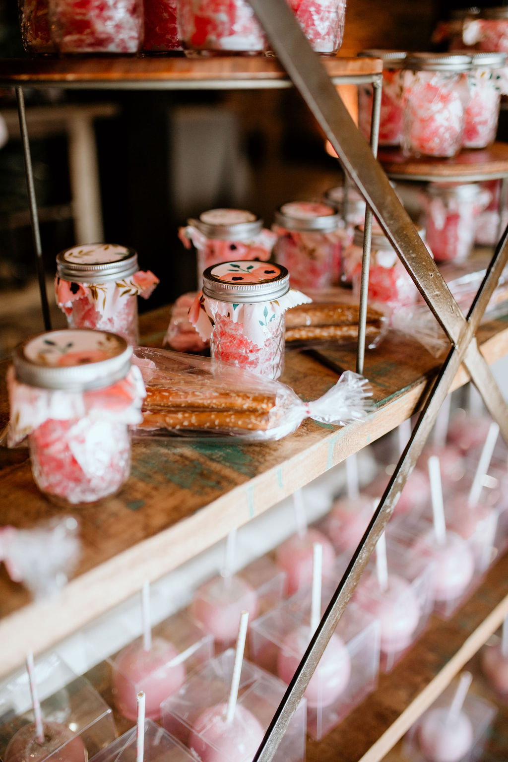 Cotton candy display ideas: Modern Pink Baby Shower from Ninth & Everett