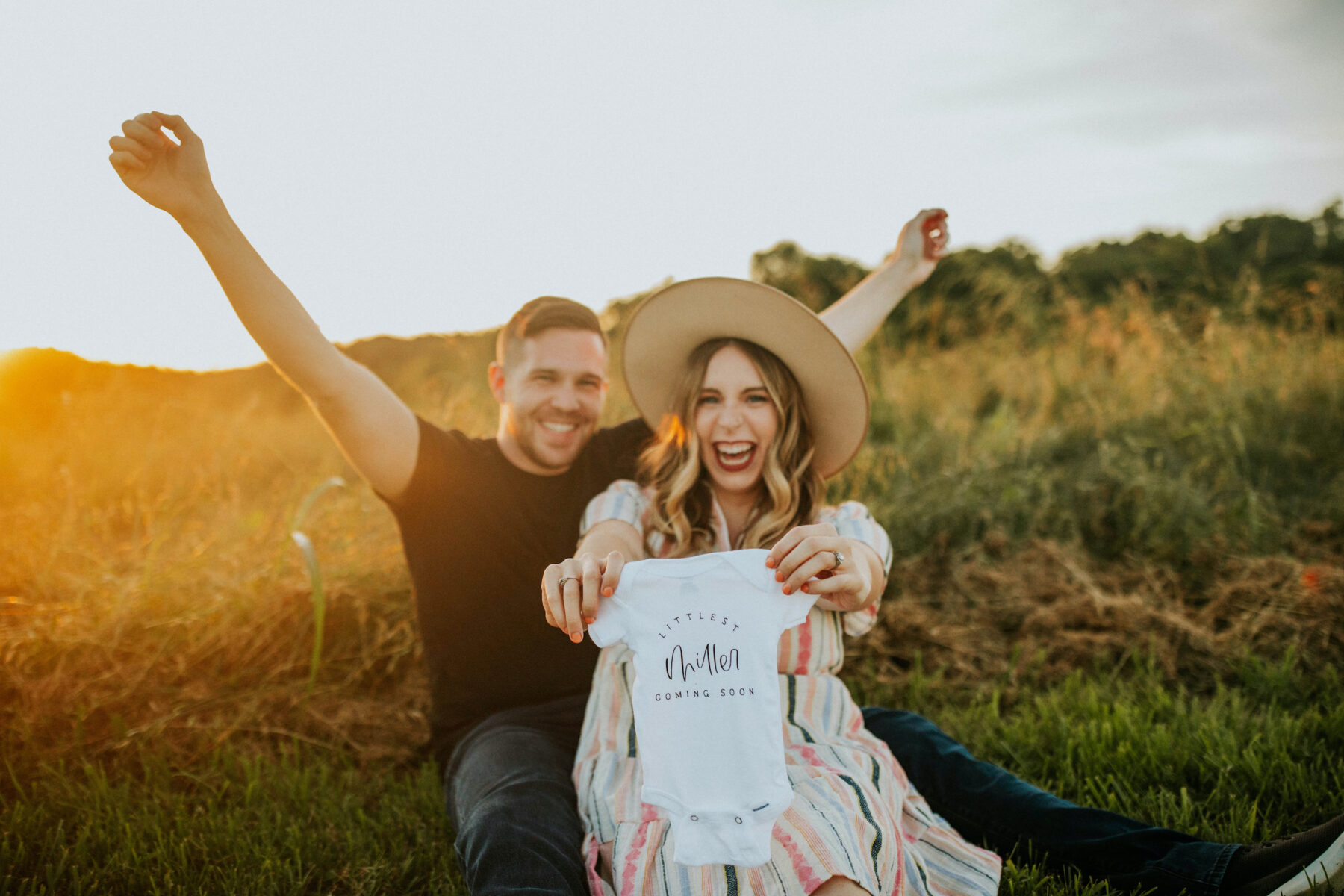 Sunlit Baby Announcement Photo Session featured on Nashville Baby Guide