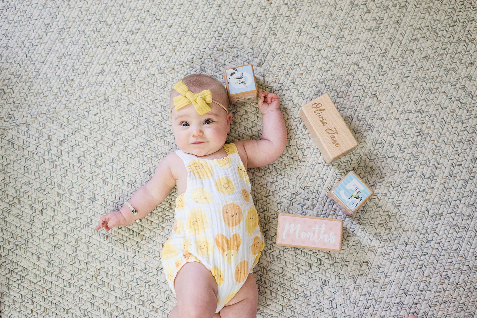 5 Month Milestone Session from Sweet Williams Photography featured on Nashville Baby Guide
