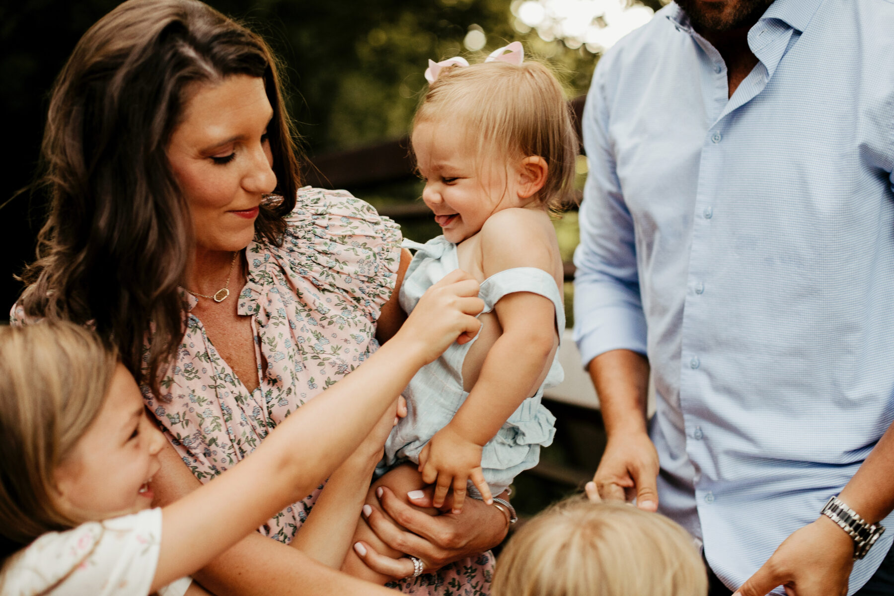 Styling for a Family Photo Session with Jamie Hunt Photography featured on Nashville Baby Guide