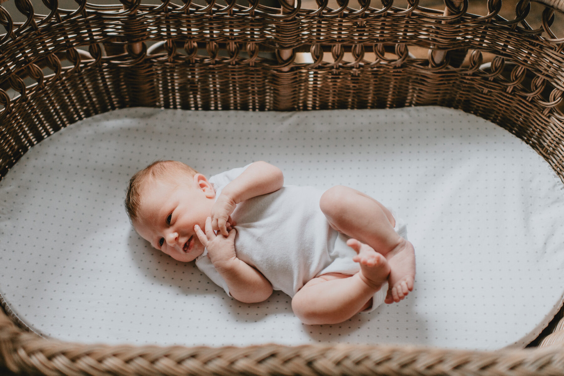 In-Home Lifestyle Newborn Session from Five Pence Photography featured on Nashville Baby Guide