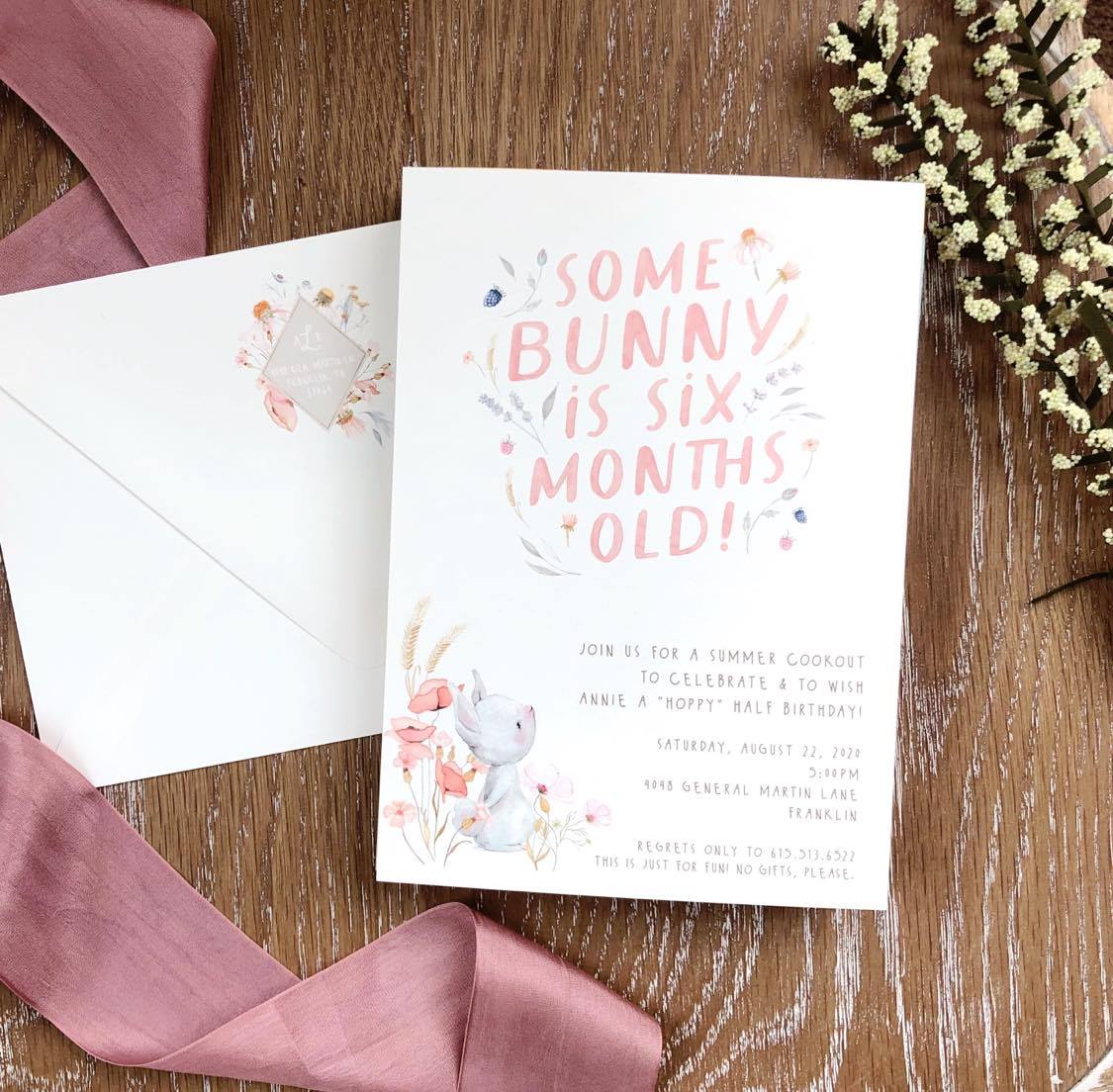 Darby Cards: Woodland Themed Half Birthday Party featured on Nashville Baby Guide