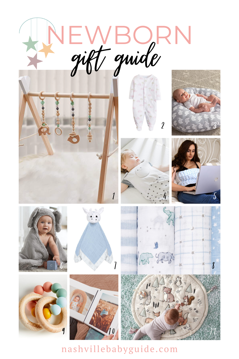 Newborn Gift Guide for the Holidays featured on Nashville Baby Guide