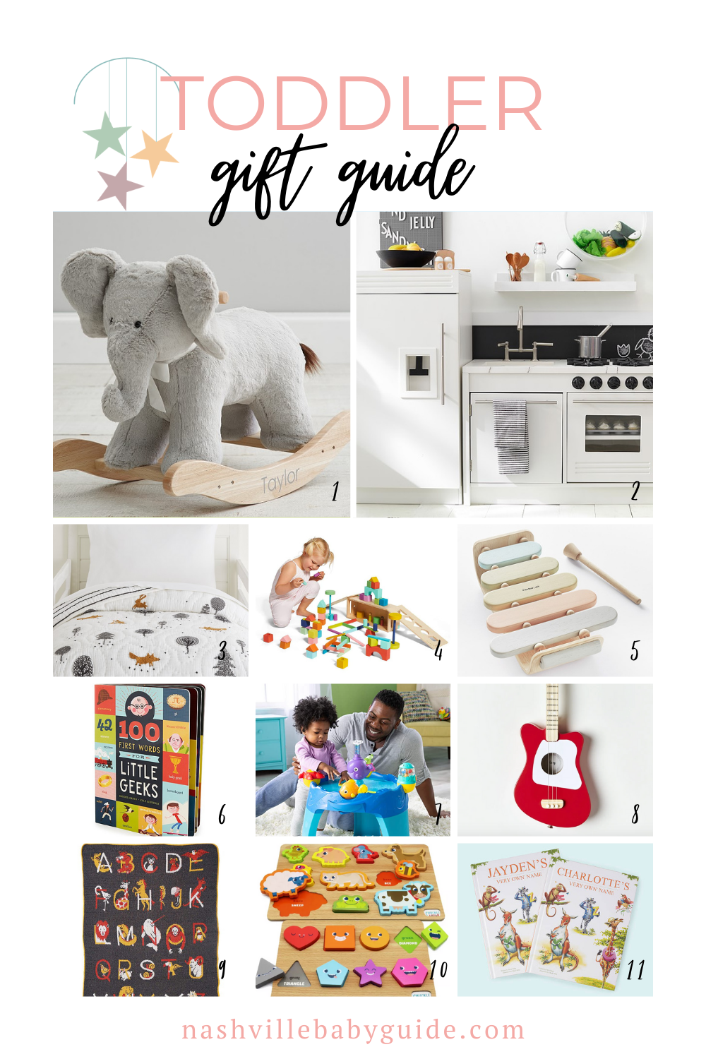 Toddler Gift Guide for the Holidays featured on Nashville Baby Guide