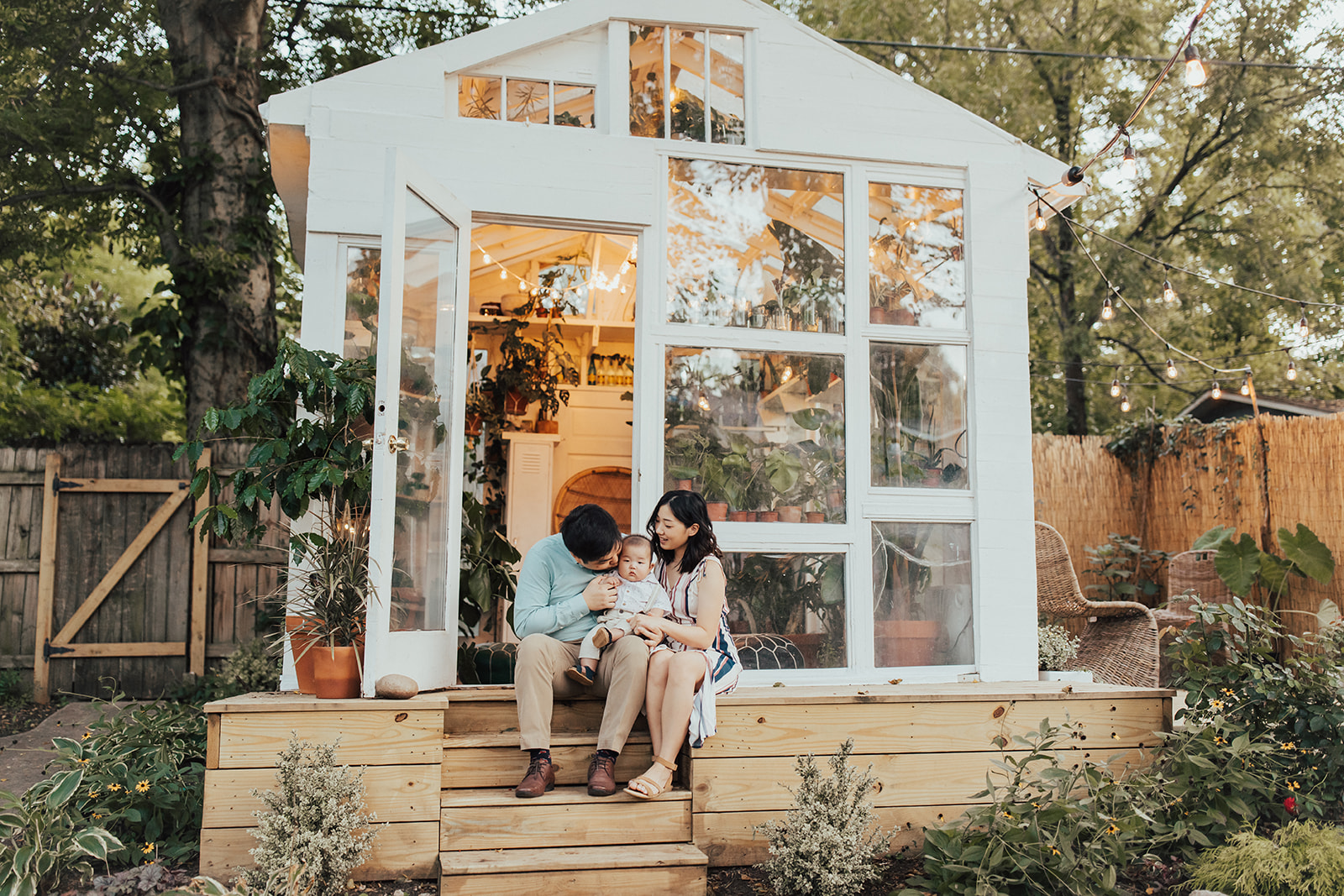 East Nashville Greenhouse family session by Fields & Freckles Photography