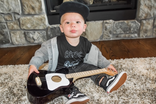 Loog Guitar: Rock and roll first birthday party featured on Nashville Baby Guide