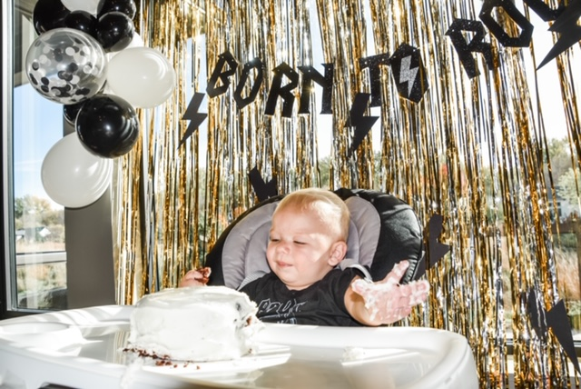 Rock and roll first birthday party featured on Nashville Baby Guide