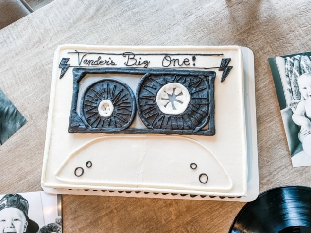 Rock and roll birthday cake: Rock and roll first birthday party featured on Nashville Baby Guide