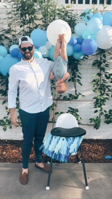 Funny first birthday party photo