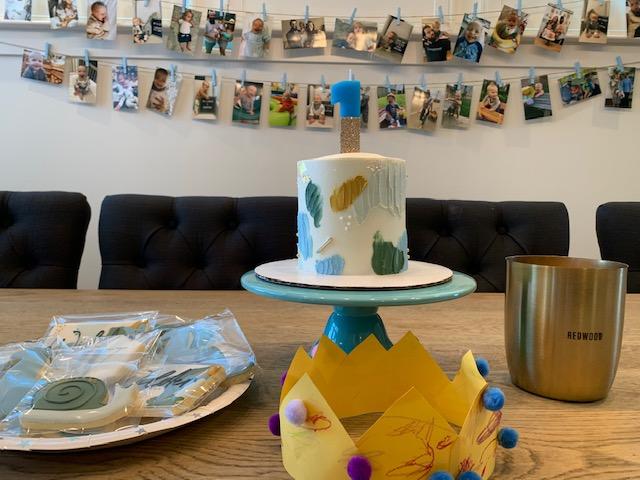 Huey Cakes first birthday cake