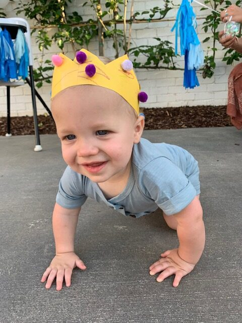 First birthday party crown