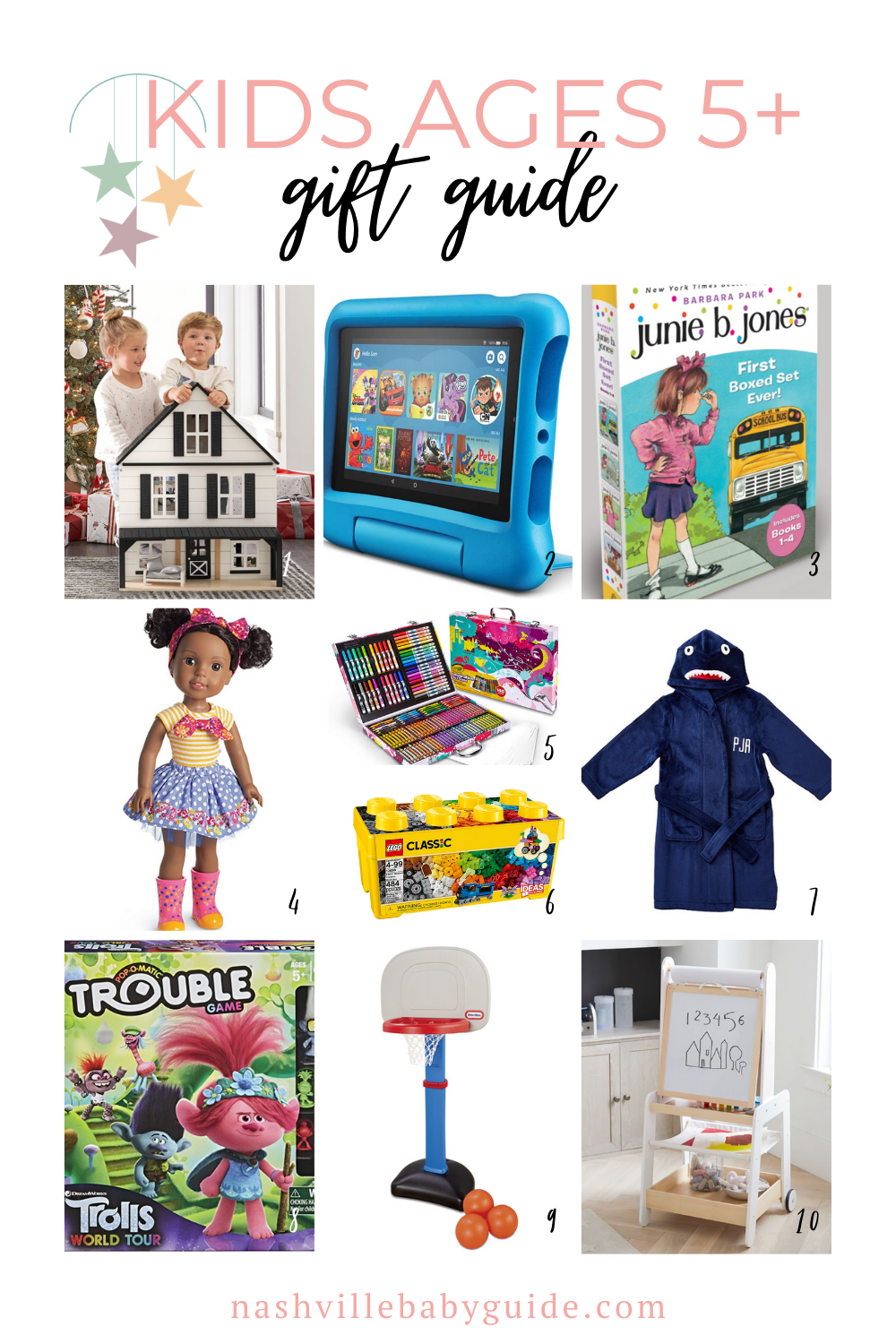 Kids Ages 5+ Gift Guide for the Holidays featured on Nashville Baby Guide