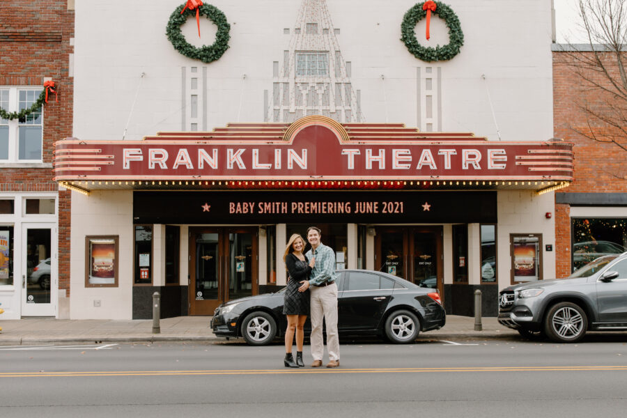 Adorable Franklin Theatre Baby Announcement Session by Tara Winstead Photography