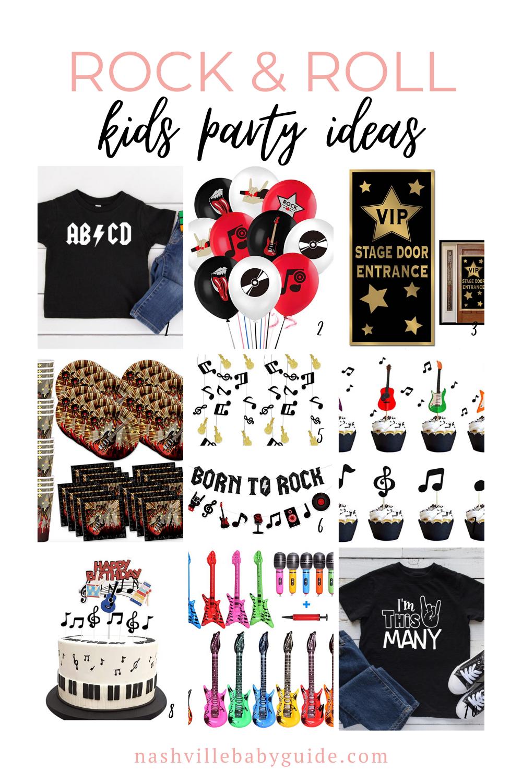 Rock & Roll Birthday Ideas   Nashville Baby Guide