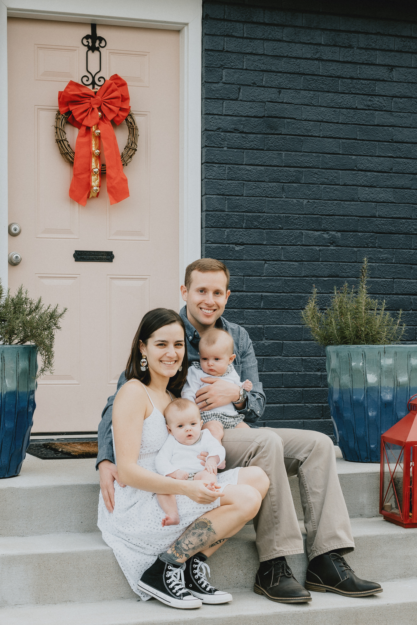 In-home family session with Five Pence Photography